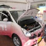 電気自動車の展示もありました
